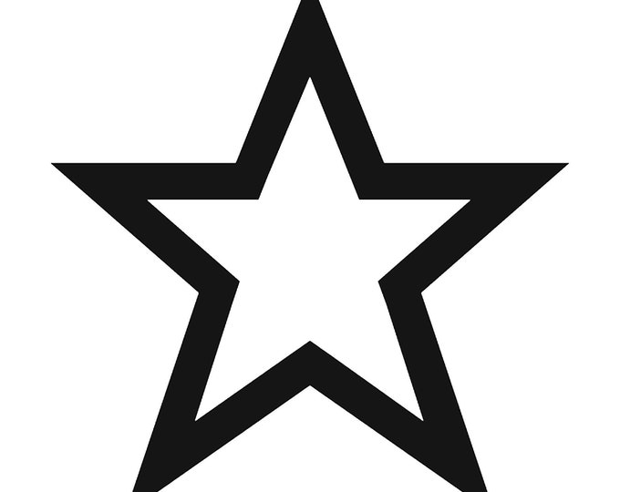 Star Vinyl Decal - various sizes and colors - colours