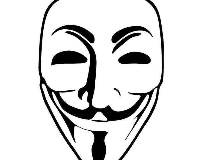 Guy Fawke Anonymous Vinyl Decal - various sizes and colors - colours