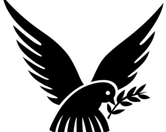 Dove Peace Vinyl Decal - various sizes and colors - colours