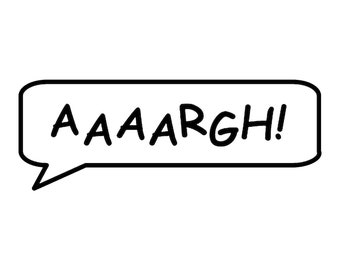 AAAARGH! Call out Vinyl Decal - various sizes and colors - colours
