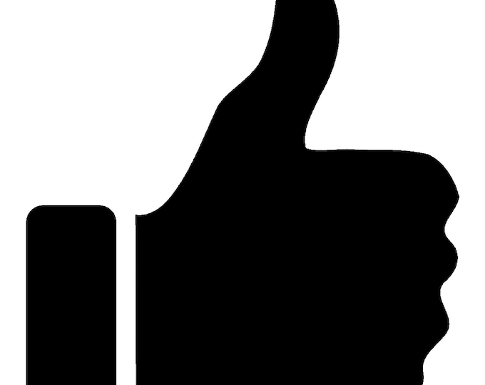 Thumbs Up Vinyl Decal - various sizes and colors - colours