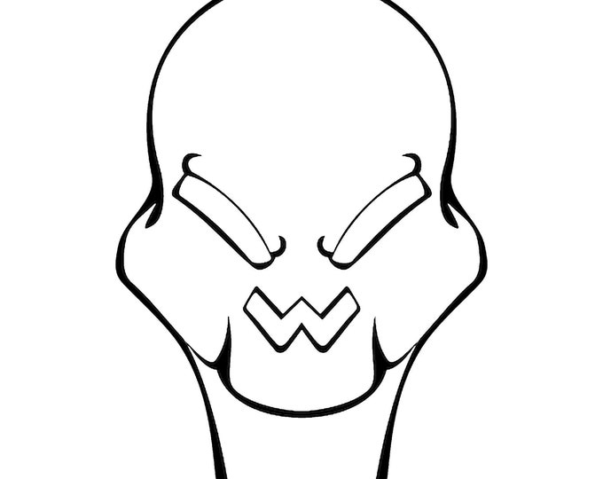 Alien Vinyl Decal - various sizes and colors - colours
