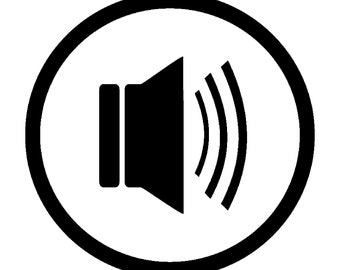 Audio Symbol Vinyl Decal - various sizes and colors - colours