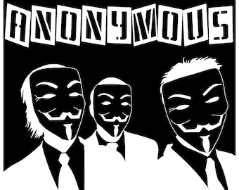 Anonymous Vinyl Decal - various sizes and colors - colours