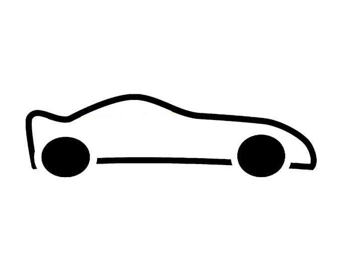Car Vinyl Decal - various sizes and colors - colours