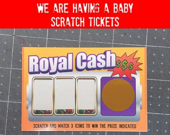 """Scratch We Are Having A Baby Lottery Ticket Simulation 3.75"""" x 2.5"""" Laminated, 2, 5, 10, 20 options available."""