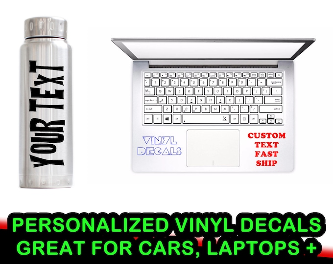 Personalized Text Premium Vinyl Decal -  Fun Decals