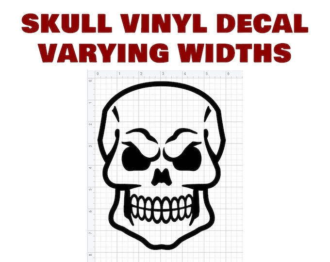 Skull Die Cut Vinyl Decal also in CHROME various colors and sizes available