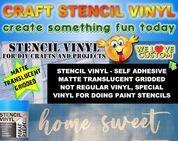 "Custom text stencil for diy projects.  Airbrush, wood, painting your custom text or image cut into our vinyl stencil up to 24"" - single use."