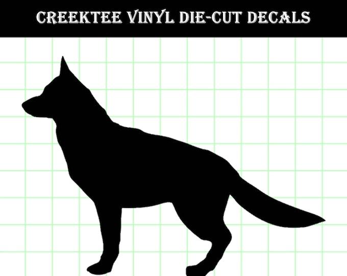German Shepard Standing Die Cut Dog vinyl decal - Dog Decal