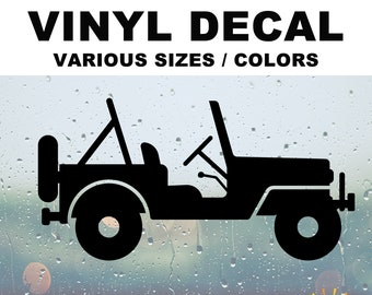 Off road 4x4 Silhouette Vinyl Decal Various Sizes and Colors Die Cut Vinyl Decal also in Cool Chrome Colors!