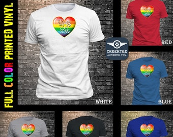 Rainbow Power of Love T-Shirt or your own PHOTO print on vinyl t-shirt customize your tee