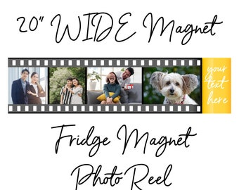 """HUGE 20"""" Wide Vinyl Sticker or Fridge Magnet Photo Roll / Reel of your favourite photos with laminate or without.. we love custom"""