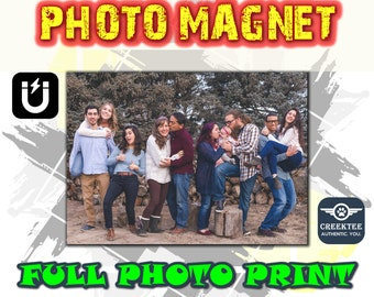 Photo magnet, your personal photos printed on premium photo paper, laminated with 4.7m uv resistant coating then full magnet backing