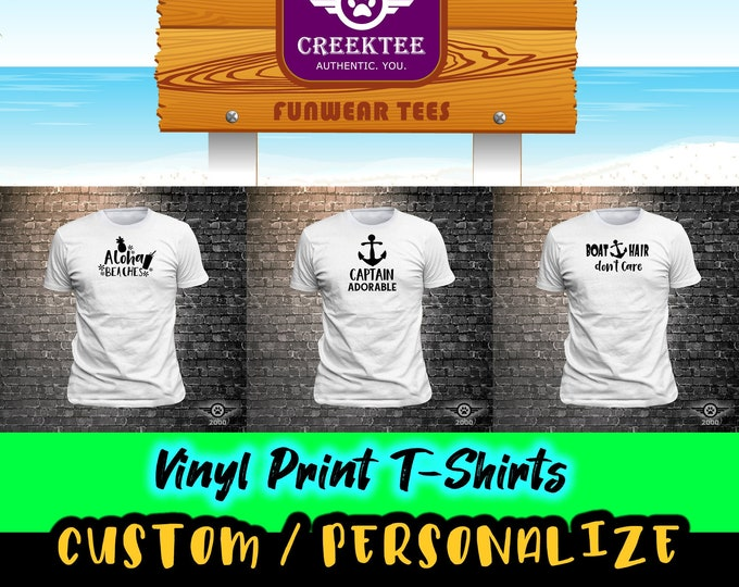 5X Fun custom t-shirts with vinyl print or lettering, customize your tee today! Special Bulk Listing