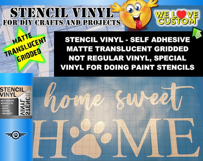 "Featured listing image: Custom text stencil for diy projects.  Airbrush, wood, painting your custom text or image cut into our vinyl stencil up to 24"" - single use."