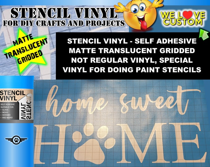 "Bulk Stencils Pricing custom text or image stencil for Airbrush, wood, painting cut into our special stencil vinyl up to 24"" - single use."