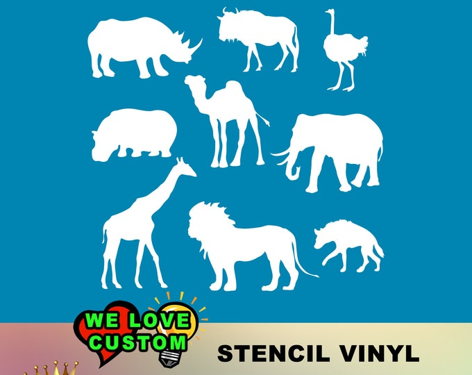 Animal Kingdom stencil for diy projects.  Airbrush, wood, painting  - single use.