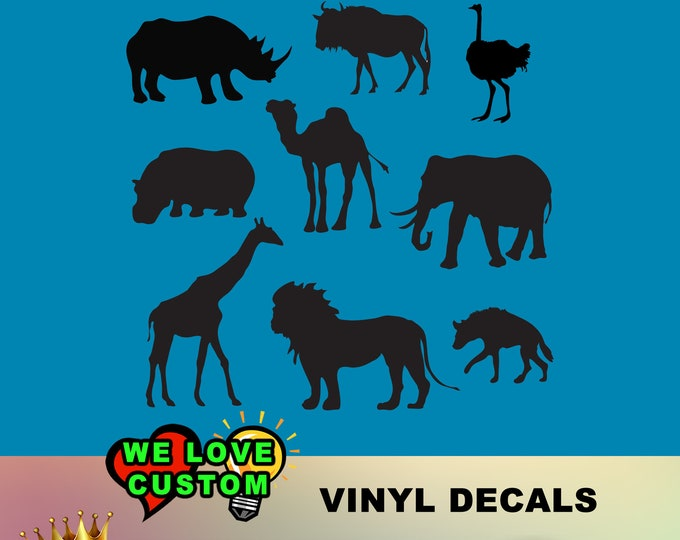Animal Kingdom in various colors and sizes plus Chrome High Quality Cars, Trucks, Vans, Windows, Boats, Mailboxes