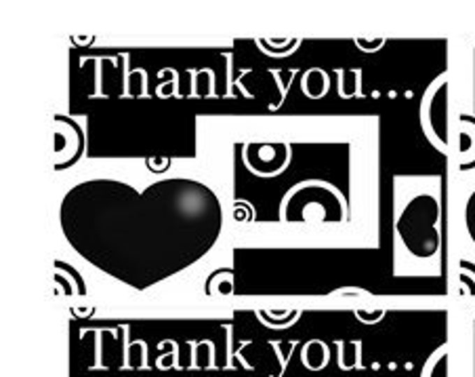 8 Fun 3 inch x 2 inch Stickers -Thank You Stickers
