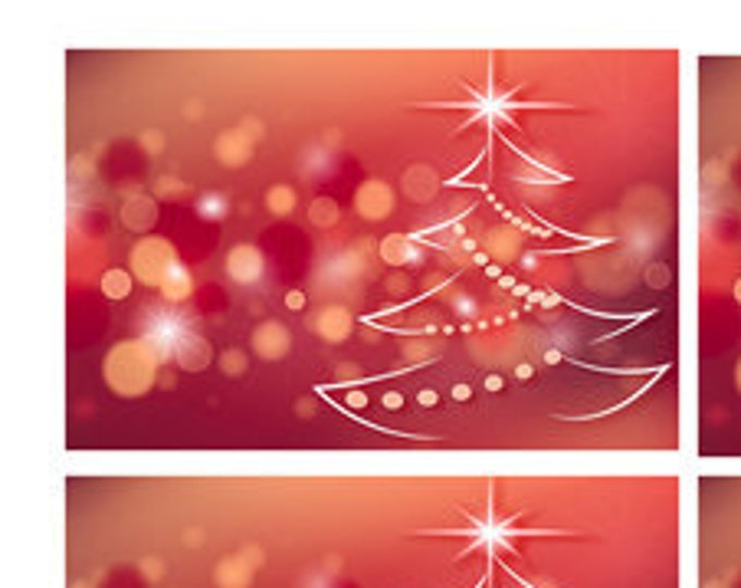 8 Fun 3 inch x 2 inch Stickers - Christmas gifts, Christmas Cards and envelopes