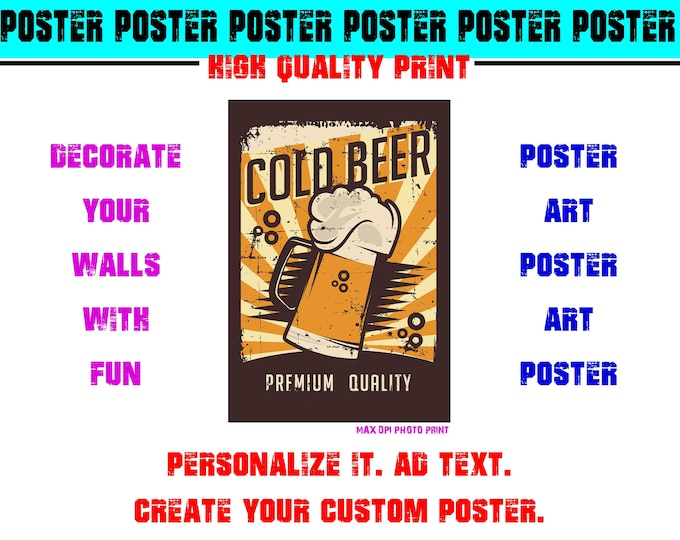 Skull Hipster Poster Photo Print Art Fun Poster Various Sizes High Quality Print