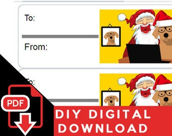 Print Your Own! Formatted For Avery 5160 - Christmas Tags For Gifts and Presents = Digital PDF