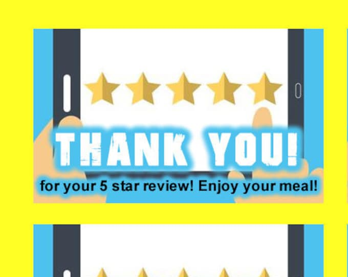 10 Door Dash Skip The Dishes Food Delivery 5 Star Review 2 1/2 inch wide x 1 1/2 inch Tag Stickers