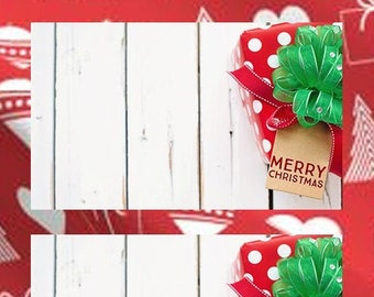 10 fun and classic 2 1/2 inch wide x 1 1/2 inch high Christmas Gift Tag Stickers - Christmas gifts, Christmas Cards and envelopes
