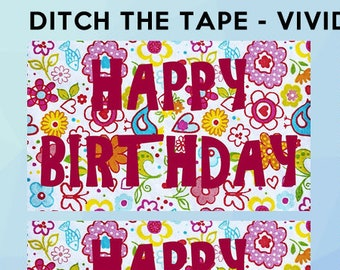 10 Gift Tag Stickers fun and classic 2 1/2 inch wide x 1 1/2 inch high Vivid Tag Stickers Christmas Birthdays Anniversary presents and cards