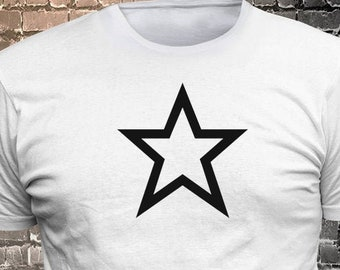 Star long lasting vinyl print t-shirt - Funny t-shirt, fun tshirt, Customize your t-shirt... Ask us!