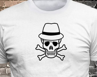 Skull long lasting vinyl print t-shirt - Funny t-shirt, fun tshirt, Customize your t-shirt... Ask us!