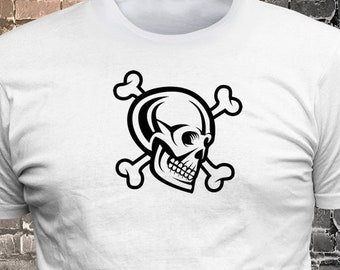 Skull Vinyl Print T-Shirt - Funny t-shirt, fun tshirt, Customize your t-shirt... Ask us!