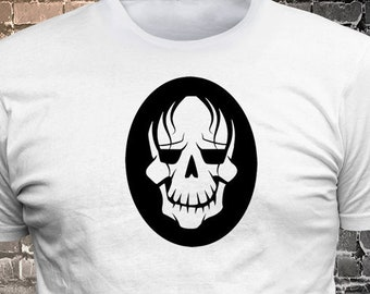 Skull long lasting vinyl print tee - Funny t-shirt, fun tshirt, Customize your t-shirt... Ask us!