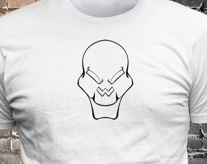 alien face long lasting vinyl print t-shirt - Funny t-shirt, fun tshirt, Customize your t-shirt... Ask us!
