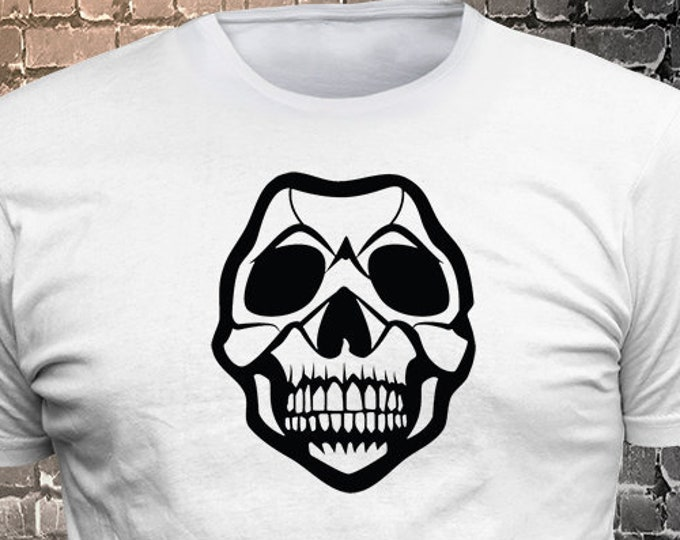 Skull print t-shirt - Funny t-shirt, fun tshirt, Customize your t-shirt... Ask us!