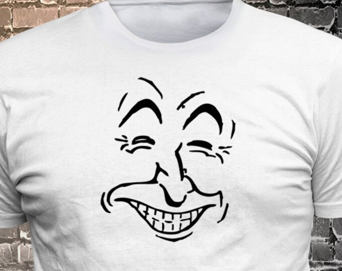 Smiling Face Vinyl T-shirt - Funny t-shirt, fun tshirt, Customize your t-shirt... Ask us!