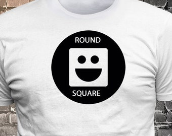 Square Peg Round Hole Smiling Face T-shirt   Gift Funny - 1906-H - Funny t-shirt, fun tshirt, Customize your t-shirt... Ask us!
