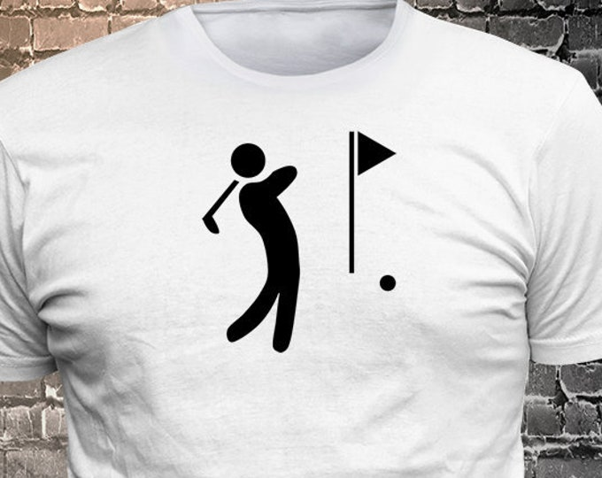 Vinyl Print Golf T-shirt   Gift Funny - 1906-V - Funny t-shirt, fun tshirt, Customize your t-shirt... Ask us!