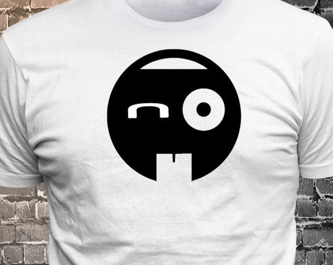 Vinyl Print Crazy Face Sick Face Emoji T-shirt   Gift Funny - 1906-O - Funny t-shirt, fun tshirt, Customize your t-shirt... Ask us!