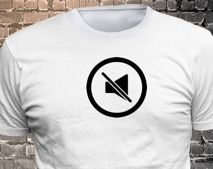 No Volume Icon Vinyl  Gift Funny - Funny t-shirt, fun tshirt, Customize your t-shirt... Ask us!