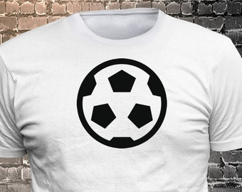 Vinyl Print Soccer Ball Icon T-shirt   Gift Funny - 1906-R - Funny t-shirt, fun tshirt, Customize your t-shirt... Ask us!