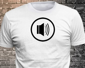 Speaker Icon Vinyl  Gift Funny - Funny t-shirt, fun tshirt, Customize your t-shirt... Ask us!