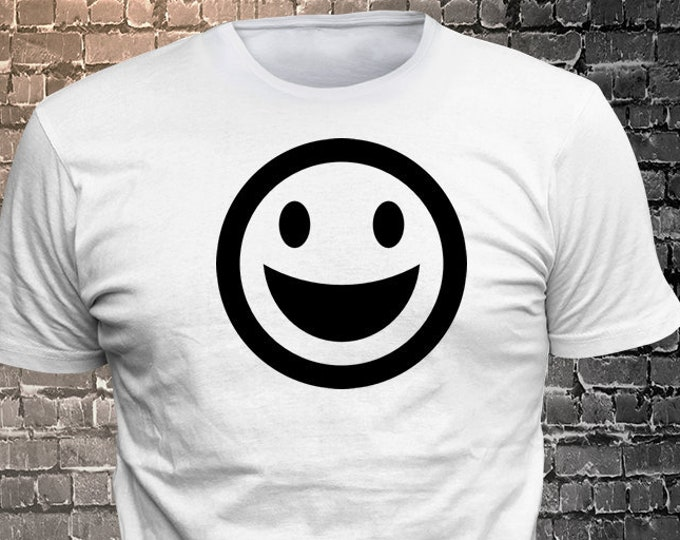Happy Face Smiling emoji shirt   Gift Funny available - 1906-G - Funny t-shirt, fun tshirt, Customize your t-shirt... Ask us!
