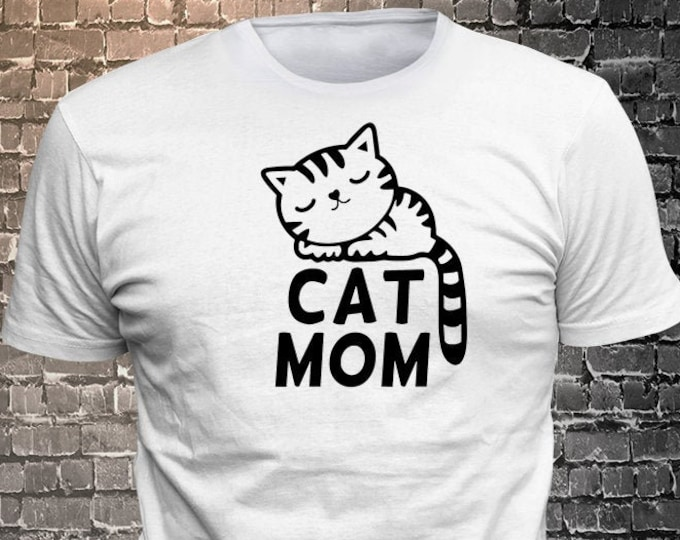 Cat Long Lasting Vinyl Print T-Shirt - Cat T-Shirt, Cat tshirt