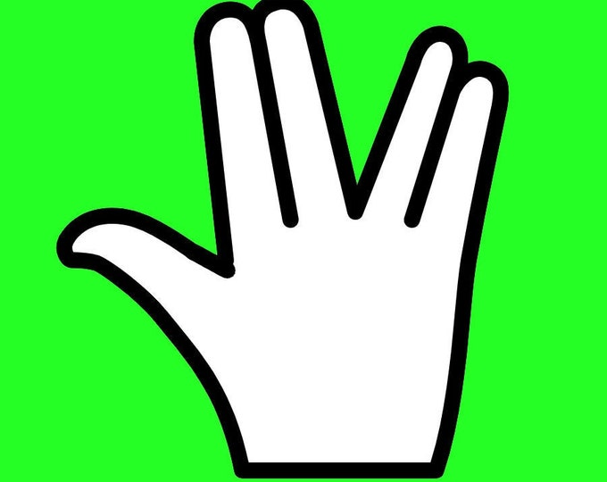 """The Shocker hand outline sticker or magnet in various heights, 3"""" to 9"""""""