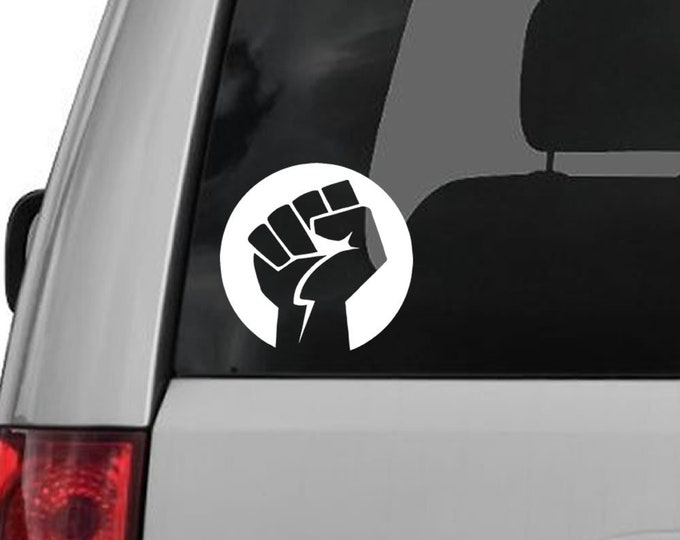Rising Fist Vinyl Decal - various sizes and colors - colours