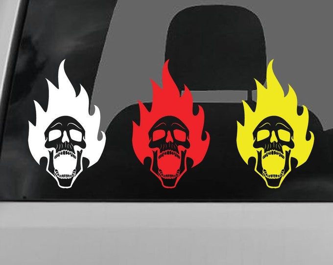 Skull Vinyl Decal - various sizes and colors - colours