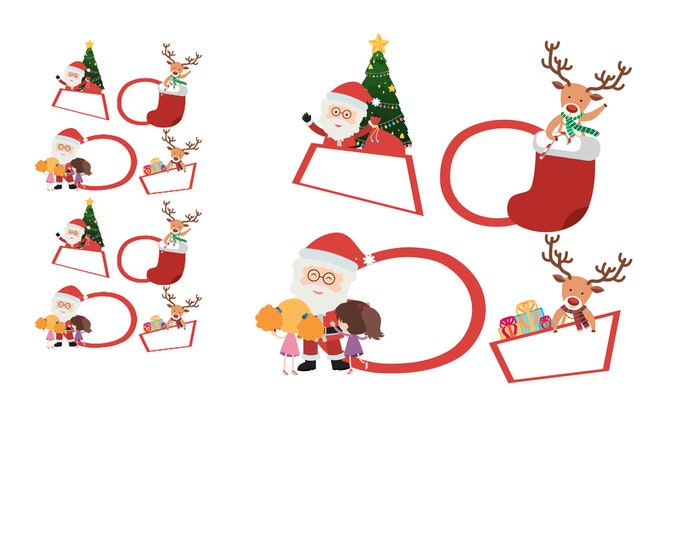 8 christmas gift tag stickers 2 inch by 2 inch