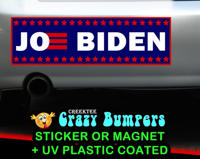 "9"" x 2.7"" Joe Biden 2020 bumper sticker or magnet, Biden Election Sticker 9 x 2.7 Sticker Magnet or bumper sticker or bumper magnet"